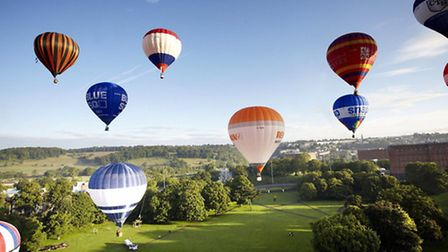 The sky will come alive with colourful balloons