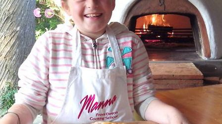 Honor Jones at the Manna from Devon Cooking School