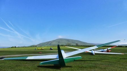 The glider club is based on farm land