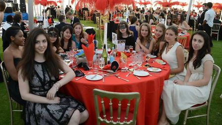 Sixth Form boarders enjoying the evening
