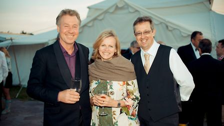 Mr and Mrs Morris-Adams with Graham Coombe (General Manager)