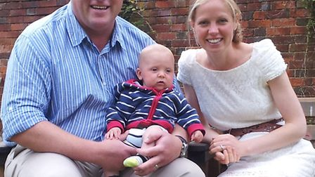 Duncan Sinclair with his family