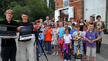 Youngsters from the Sudbury area who took part in a summer holiday film workshop at the Quay Theatre