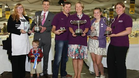 The victorious team from Butlers - Lisa Moore, Joseph Fisher, Tim Fisher, Peter Elvin, Gill Hall,
