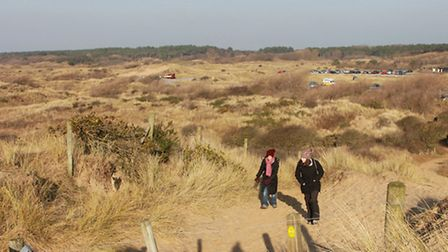 Heading for the beach at Lifeboat Road, Formby