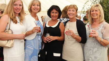 Jean Clarke, Patricia Turner, Helen Bibby, Elaine Campbell and Ruth Evans