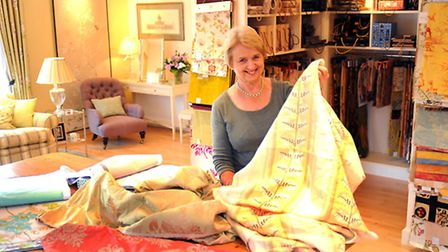 Libby Denny in the showroom at her new premises for her interior design business Margaret Sheridan a