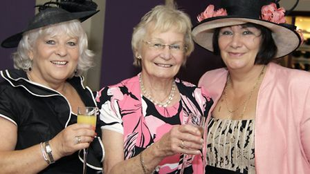 Woman of Oldham Marjorie Bamforth, centre, flanked by Jacqueline Smith and Victoria Lees