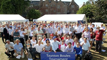The teams at the Summerfield Boules Tournament