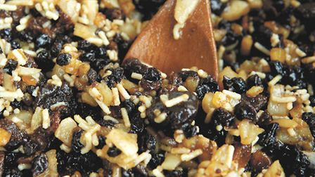 Mary Kemp's November preparation of the food ready for Christmas.The mincemeat is mixed ready to st