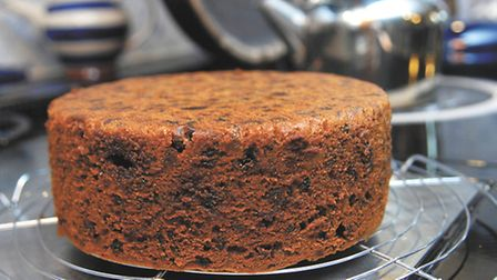 Mary Kemp's November preparation of the food ready for Christmas.The Christmas Cake cools on a rack
