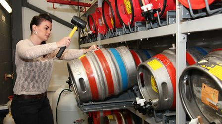 Tracy Robinson, the Brewhouse Tap Manager