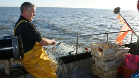 Dean pulls in the fishing nets