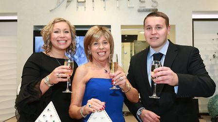 Whittles co-directors Sheila Bamber (centre) with daughter, Joanna Valentine and son, Andrew Rhodes