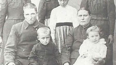 The fraudulent family photograph with Irwell in the foreground
