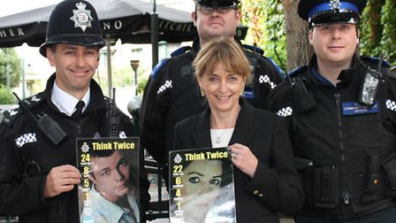 Sue with the Neighbourhood Beat Team supporting Alcohol Awareness Week