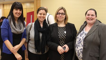 From left to right: Becky Mountford (RGB), Vicky Murch (Mole Valley Farmers), Jenny Naylor (RGB), Ka