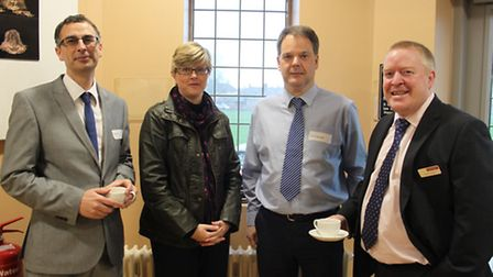 From left to right: Marcus Fry, Kate Lacey, Piers Graham-Hill (all Nagel Landgons), Steve Hughes (Fo
