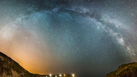 Milky Way Arch above Lulworth Cove