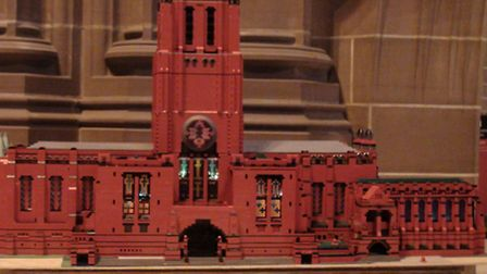 Can you guess how many LEGO blocks make up this model of Liverpool Cathedral