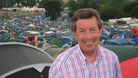 BBC Points' Clinton Rogers at Glastonbury Festival - but as a journalist, not a performer!