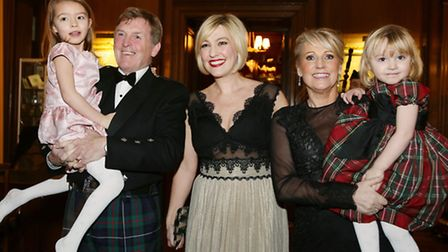 Kenny and Marina Dalglish with their daughter, Kelly Cates, and granddaughters, Gabriella (5) and Mi