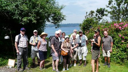 Guided walk on Looe Island Nature Reserve Photo by Jon Ross