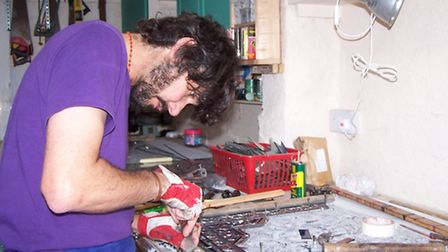 is now one of the country's leading stained glass artists, working with both conservation and design