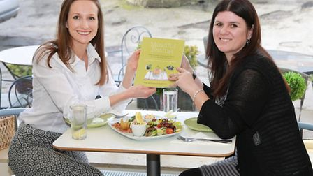 Mindful Eating authors, Rachel Bartholomew and Mandy Pearson at Parbold