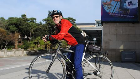 Dennis Ross a Parkinson's Dance participant who is doing a sponsored bike ride in South Africa