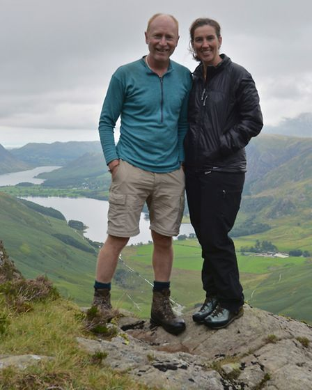 Rob and Harriet above Buttermere