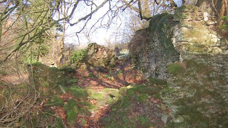 Probably the ruins of Clicket Mill
