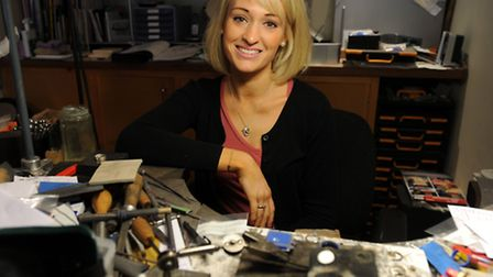 Jeweller Megan Birnie is pictured in Bury. Megan has recently started making silver jewellery with c