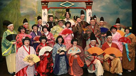 The cast for Blackburn Gilbert & Sullivan Society's 'Mikado ' at Thwaites Empire Theatre