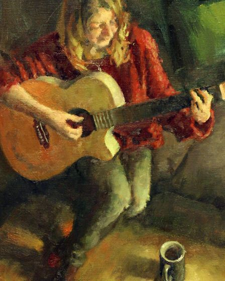 Guitar Player by David Cobley
