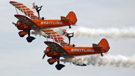 Breitling Wing Walkers at Bournemouth Air Show