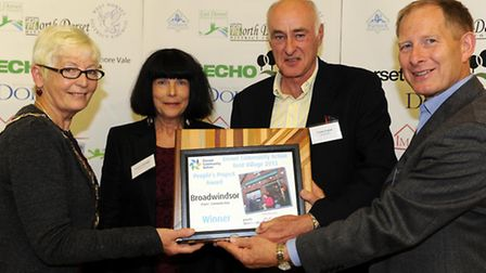 Broadwindsor Community Shop presented with the People's Project Award at the 2013 Dorset Village of