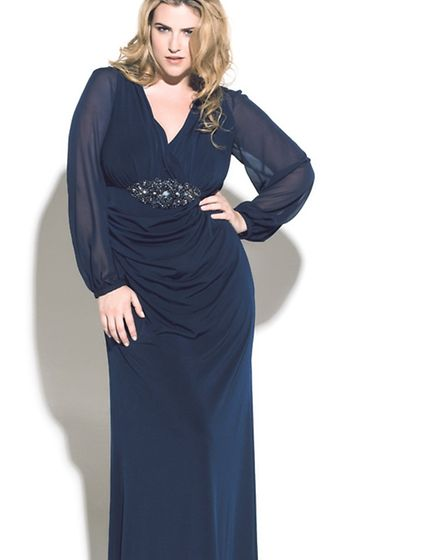 Slinkboutique at BoutiqueFusions - navy long evening dress
