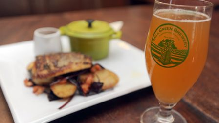 Beer and food feature at the Edwardstone White Horse and Mill Green Brewery.
