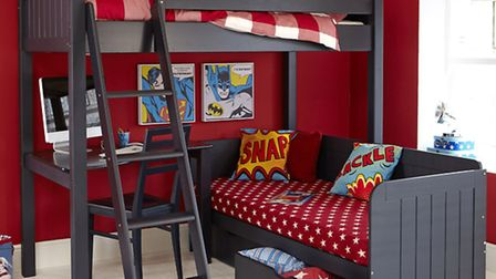 Multi-functional furniture is great when creating an adaptable space Bunk-bed with desk and daybed b
