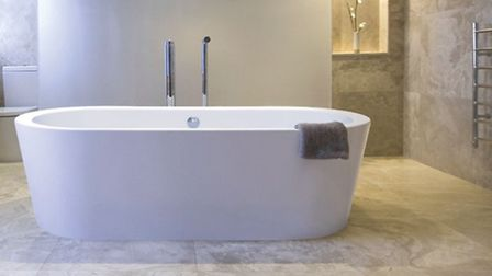 BC Designs Plazia is the classic modern free-standing bath for the contemporary bathroom
