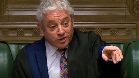 Former speaker John Bercow in the House of Commons. Photograph: PA Wire.