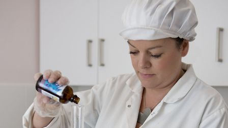 Angela creates her cosmetics from a modern laboratory in her Merriot home