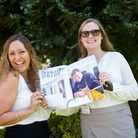 Sophie Kermani Jibet (In The Bag PR), Pippa Gibb (In the Bag PR) with the latest edition of Dorset M