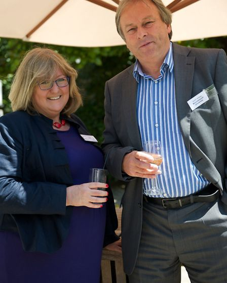 Jane Adkins ( A Head for PR) and Dr Keith Wilkes, (Dean Of School Of Tourism & The Business School a