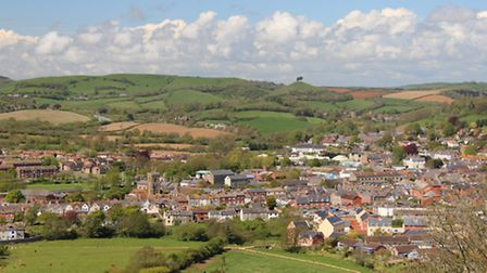Views over Bridport to Colmer's Hill
