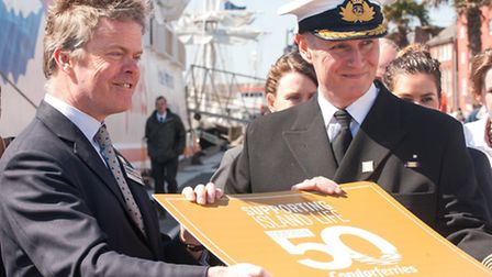 James Fulford (CEO, Condor Ferries) and Captain Steve Leake (Master)