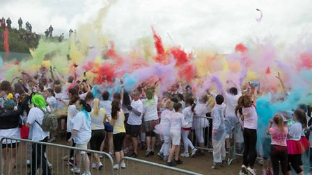 See image name for pic cap: Weston Colour Run