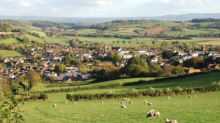 View of Wiveliscombe from Jews Lane