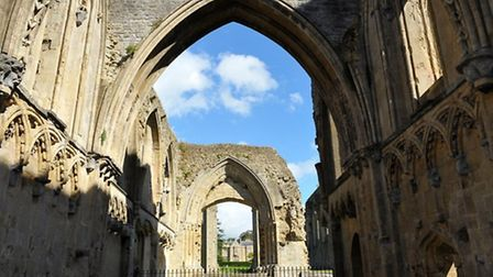 The ruins at Glastonbury Abbey